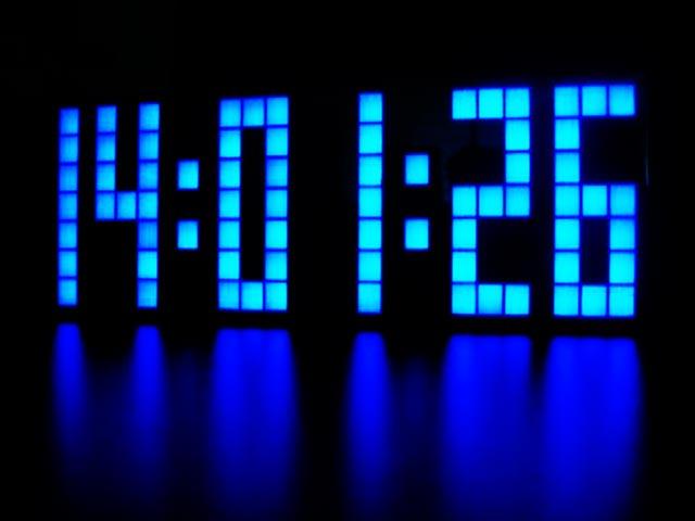 Reloj de bombillas led