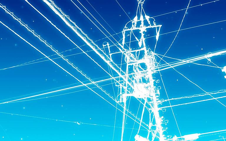 Electricidad en torre de alta tensión