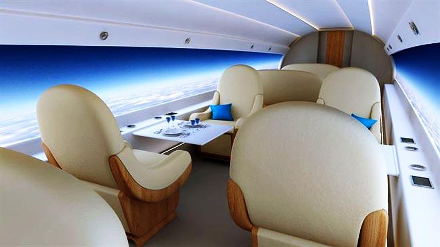 ¿Aviones más eficientes sin ventanas?
