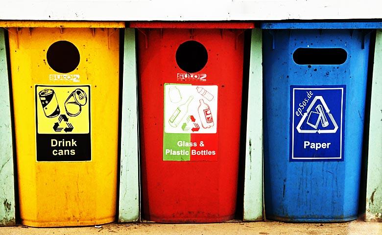 Tipos de contenedores de basura, cada residuo a su cubo